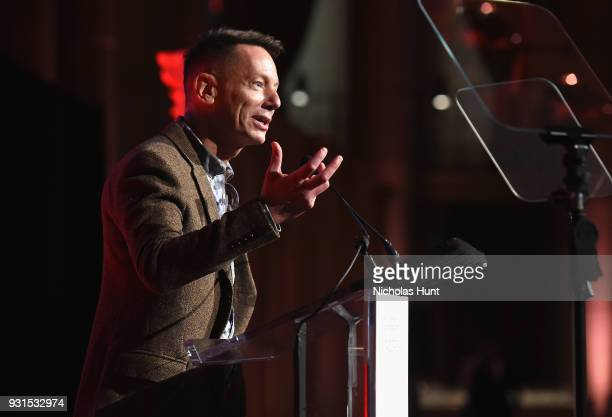 Editor in Chief of GQ Jim Nelson speaks onstage during the Ellie Awards 2018 on March 13 2018 in New York City
