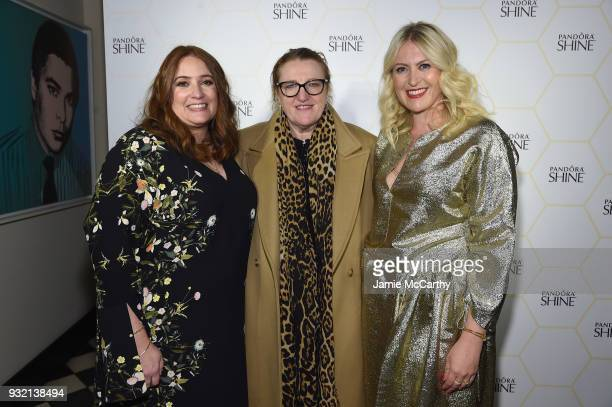 Editor in chief of Harper's Bazaar Glenda Bailey attends the PANDORA Jewelry Shine Collection Launch with Ciara on March 14 2018 in New York City