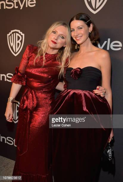 Editor in Chief of InStyle Laura Brown and Caitriona Balfe attend the 2019 InStyle and Warner Bros 76th Annual Golden Globe Awards PostParty at The...