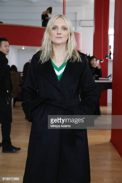 Editor in Chief of InStyle Magazine Laura Brown attends the Paul Andrew presentation during New York Fashion Week The Shows at Ramscale Studio on...