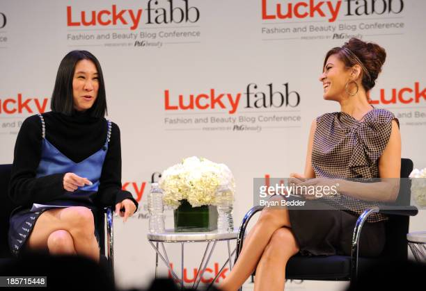 Editor in Chief of Lucky Eva Chen and Eva Mendes speak at the Lucky Magazine's TwoDay East Coast FABB Fashion and Beauty Blog Conference Day 1 on...