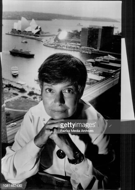 Editor in Chief Of MS Magazine Robin Morgan in Sydney February 08 1993