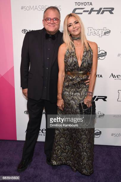 Editor in Chief of People en Espanol Armando Correa and Irma Martinez arrive at People en Espanol's 50 Most Beautiful Gala 2017 at Espace on May 16...