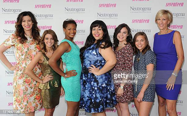 Editor in Chief of Seventeen Ann ShoketPretty Amazing Finalists Paige Rawl KayCi Bele Ant RomanStacey Ferreira and Paige McKenzie and Publisher of...