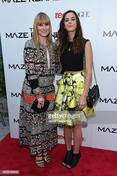 Editor in chief of Teen Vogue Amy Astley and actress Kaya Scodelario attends the 'Maze Runner' New York City screening hosted by Twentieth Century...