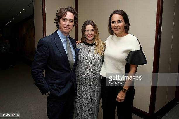 Editor in Chief of Town and Country Jay Fielden Actress Drew Barrymore and Marie Claire Editor in Chief Anne Fulenwider attend Hearst Magazines...