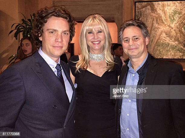 Editor in Chief of Town Country Jay Fielden Irena Medavoy and Jason Binn at Town Country Golden Globes Party circa January 2016 in Los Angeles CA
