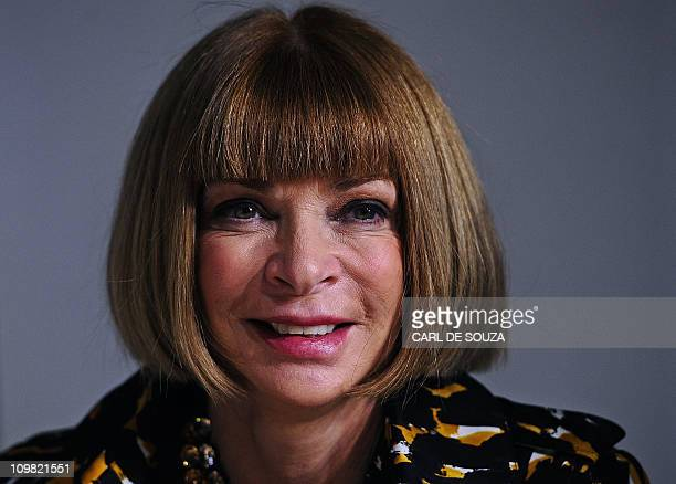 Editor in Chief of US Vogue fashion magazine Anna Wintour is pictured before Christopher Kane's Autumn/Winter 2011 collection show on the fourth day...