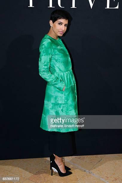 Editor in Chief of Vogue Arabia Princess Deena Aljuhani Abdulaziz attends the Giorgio Armani Prive Haute Couture Spring Summer 2017 show as part of...