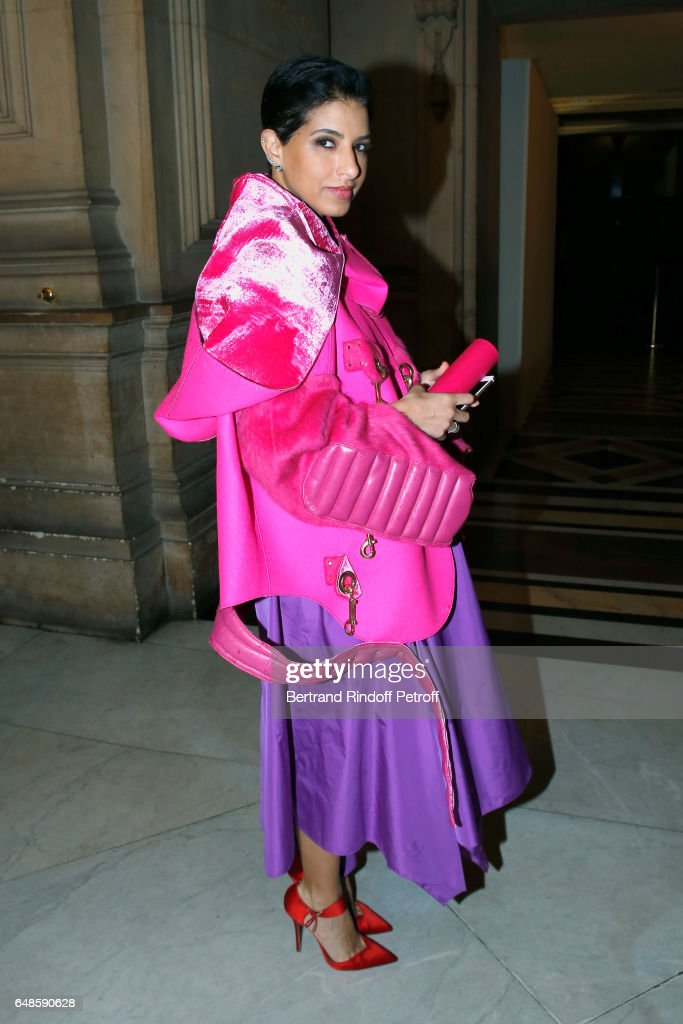 Editor in Chief of Vogue Arabia, Princess Deena Aljuhani Abdulaziz attends the Stella McCartney show as part of the Paris Fashion Week Womenswear Fall/Winter 2017/2018 on March 6, 2017 in Paris, France.