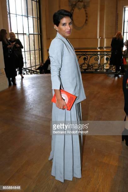 Editor in Chief of Vogue Arabia Princess Deena Aljuhani Abdulaziz attends the Elie Saab show as part of the Paris Fashion Week Womenswear...