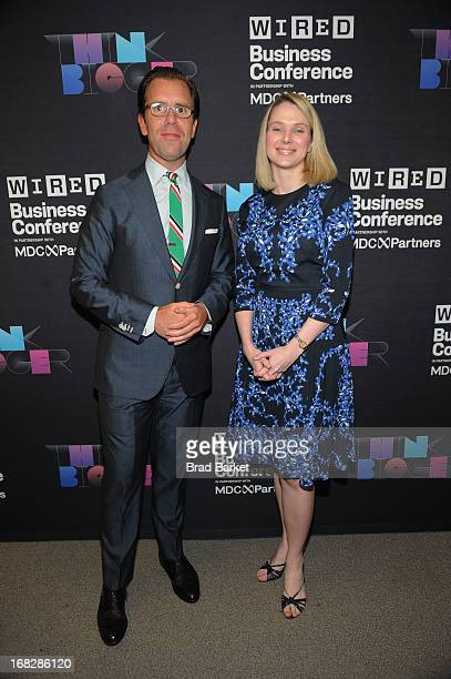 Editor in Chief of Wired Scott Dadich and President and CEO of Yahoo Marissa Mayer attend the WIRED Business Conference Think Bigger at Museum of...