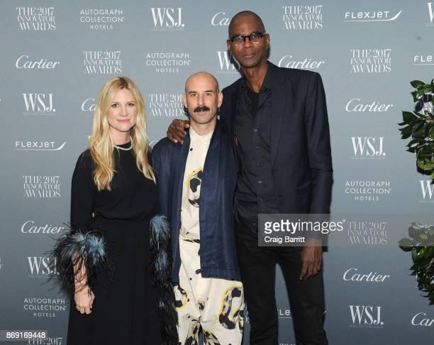 Editor in Chief of WSJ. Magazine Kristina O'Neill, Dancer Ryan Heffington and artist Mark Bradford attend the WSJ. Magazine 2017 Innovator Awards at...