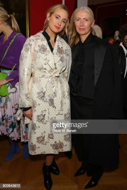 Editor in Chief Vogue Germany Christiane Arp and Princess Elisabeth von Thurn und Taxis attend 'An Evening of German Fashion' at the German Embassy...