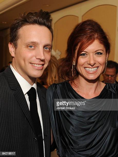 Editor InStyle Magazine Ariel Foxman and Actress Debra Messing attends the 8th Annual Awards Season Diamond Fashion Show Preview hosted by the...