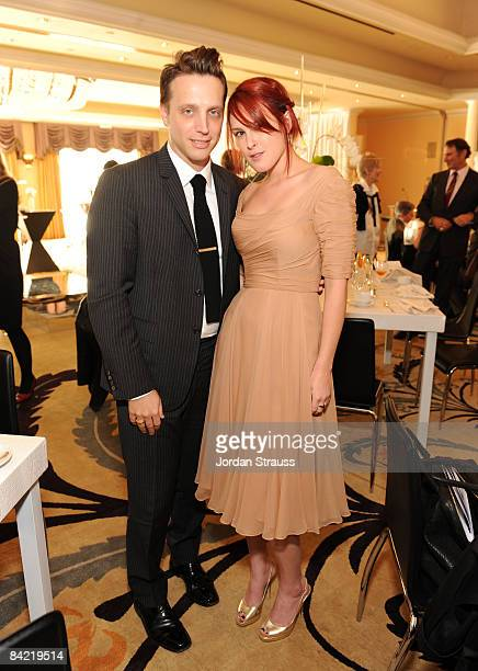 Editor InStyle Magazine Ariel Foxman and Actress Rumor Willis attends the 8th Annual Awards Season Diamond Fashion Show Preview hosted by the Diamond...