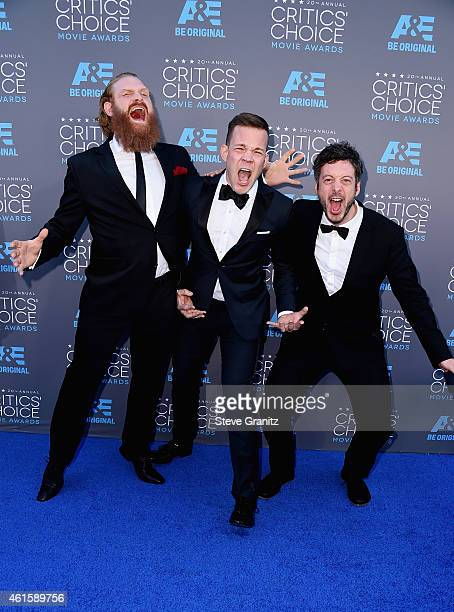 Editor Jacob Secher Schulsinger actors Johannes Kuhnke and Kristofer Hivju attend the 20th annual Critics' Choice Movie Awards at the Hollywood...
