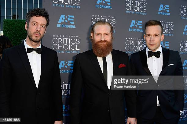 Editor Jacob Secher Schulsinger actors Kristofer Hivju and Johannes Kuhnke attend the 20th annual Critics' Choice Movie Awards at the Hollywood...