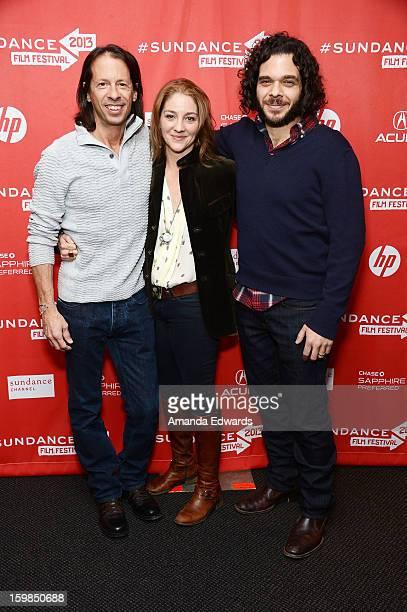 Editor Jeff Consiglio and directors Andrea Nix Fine and Sean Fine arrive at the 2013 Sundance Film Festival Premiere of Life According To Sam at...