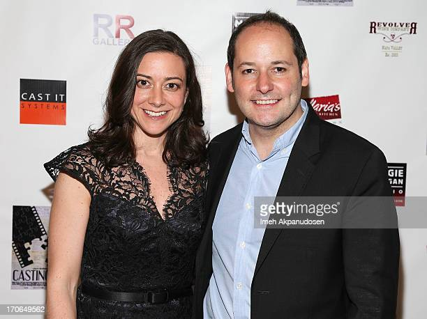 Editor Jill Schweitzer and director Tom Donahue attend the 'Casting By' Los Angeles Film Festival AfterParty at Robert Reynolds Gallery on June 15...