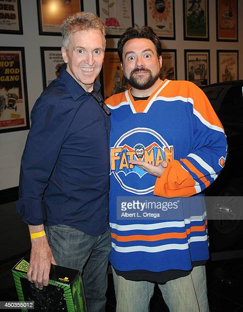 Editor Jim Chadwick and writer/host Kevin Smith at the 'Batman 66 Meets The Green Hornet' Comic Book Kickoff Fatman On Batman Live Podcast With Kevin...