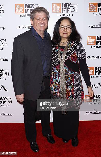 """Editor John Axelrad and guest attend the 54th New York Film Festival closing night screening of """"The Lost City Of Z"""" at Alice Tully Hall, Lincoln..."""
