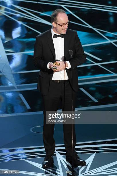 Editor John Gilbert accepts Best Film Editing for 'Hacksaw Ridge' onstage during the 89th Annual Academy Awards at Hollywood Highland Center on...
