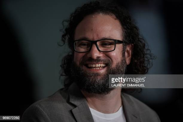 US editor Julio Perez IV attends a press conference on May 16 2018 for the film 'Under the Silver Lake' at the 71st edition of the Cannes Film...