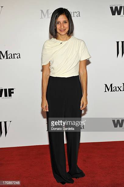 Editor Karla Martinez attends the Max Mara and W Magazine cocktail party to honor the Women In Film Max Mara Face of the Future Awards recipient...
