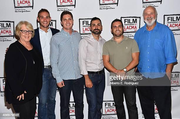 Editor Kate Amend director/writer Ryan White director/writer Ben Cotner Paul Katami Jeff Zarillo and director Rob Reiner attend Film Independent...