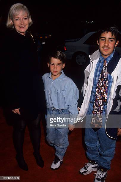 Editor Liz Tilberis and sons attend the screening of Getting Even With Dad on May 15 1994 at the Plaza Theater in New York City