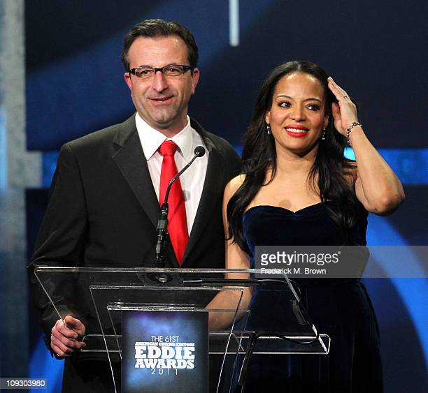 Editor Louis Cioffi and actress Lauren Velez speak during the 61st annual ACE Eddie Awards at the Beverly Hilton Hotel on February 19 2011 in Beverly...