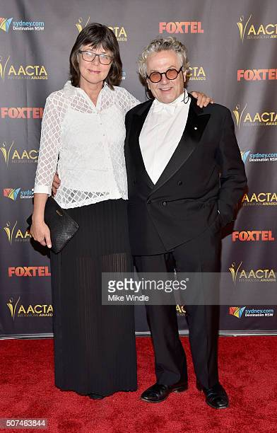 Editor Margaret Sixel and director George Miller attends the 5th AACTA International Awards at Avalon Hollywood on January 29 2016 in Los Angeles...