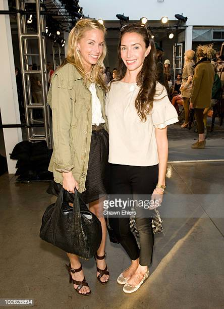 Editor Meredith Melling-Burke and Olivia Chantecaille attends the J.Crew Fall 2010 Collection presentation at Milk Studios on April 1, 2010 in New...