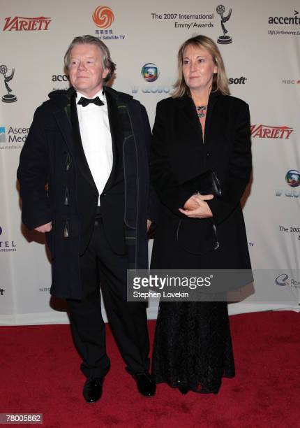 Editor Michael Andre and Producer Ariane Krampe of 'The Wall' attend the 35th International Emmy Awards Gala at the New York Hilton on November 19...