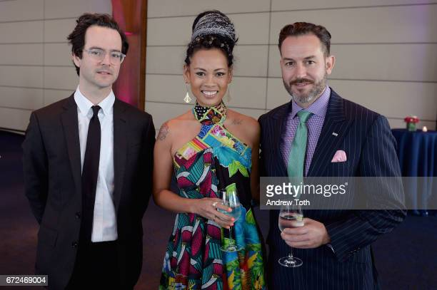 Editor of Aperture Magazine Michael Famighetti Fashion Designer Anya AyoungChee and Wyatt Gallery of For Freedoms attend The International Center of...