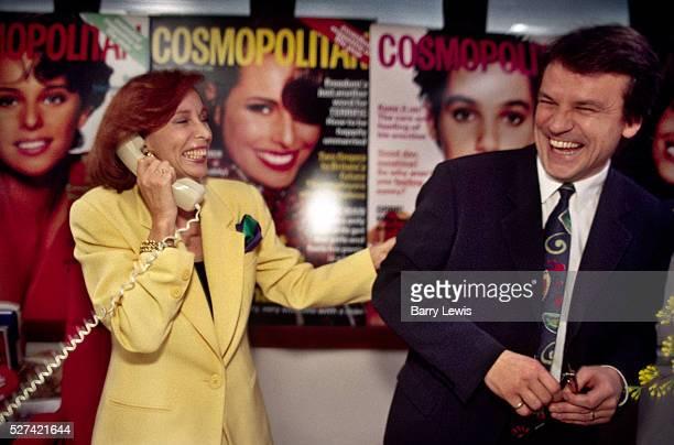 Editor of Cosmopolitan magazine, Marcelle D'Argy Smith, with Publisher, Simon Kippin.