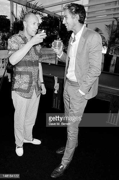 Editor of GQ Dylan Jones and George Lamb attends drinks in the Tanqueray Terrace during day 2 of the Diageo Reserve WORLD CLASS 2012 Global Final on...