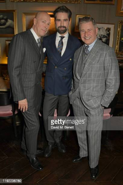 Editor of GQ Dylan Jones, Jack Guinness and Jeremy Hackett attend the British GQ dinner, co-hosted by Dylan Jones & Jack Guinness, in partnership...