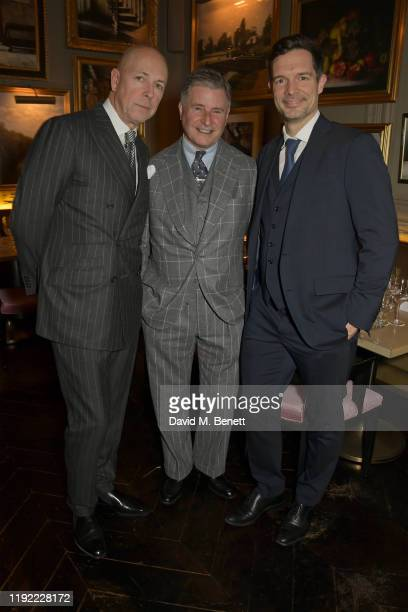 Editor of GQ Dylan Jones Jeremy Hackett and Chris Meyer attend the British GQ dinner cohosted by Dylan Jones Jack Guinness in partnership with...