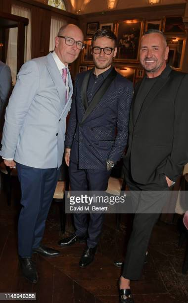 Editor of GQ Dylan Jones, Liam Payne and DJ Fat Tony attend the British GQ LFWM dinner hosted by Dylan Jones and Liam Payne with HUGO during London...
