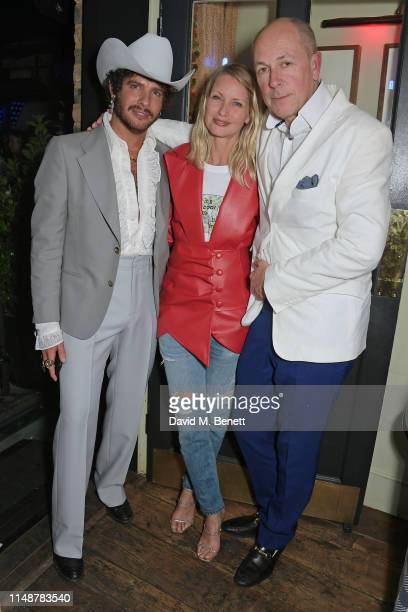 Editor of GQ Style Luke Day, Browns CEO Holli Rogers and Editor of GQ Dylan Jones attend the GQ Style and Browns party to celebrate LFWM June 2019 at...