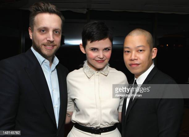 Editor of InStyle Ariel Foxman actress Ginnifer Goodwin and designer Jason Wu attend InStyle's Dinner With A Designer celebrating Jason Wu hosted by...