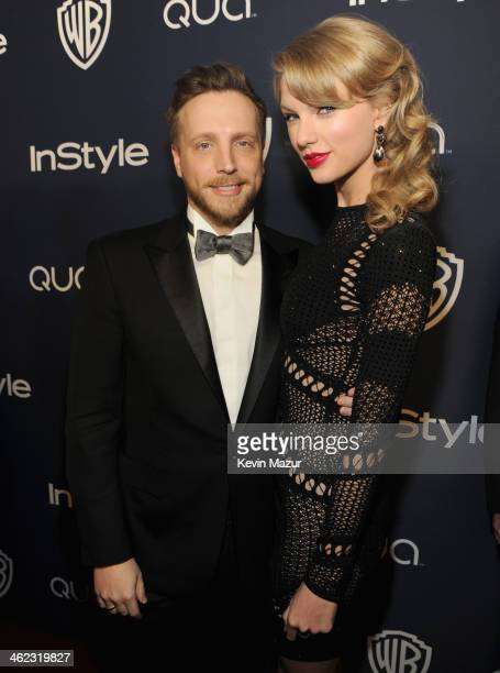 Editor of InStyle Ariel Foxman and singer Taylor Swift attend the 2014 InStyle And Warner Bros. 71st Annual Golden Globe Awards Post-Party at The...