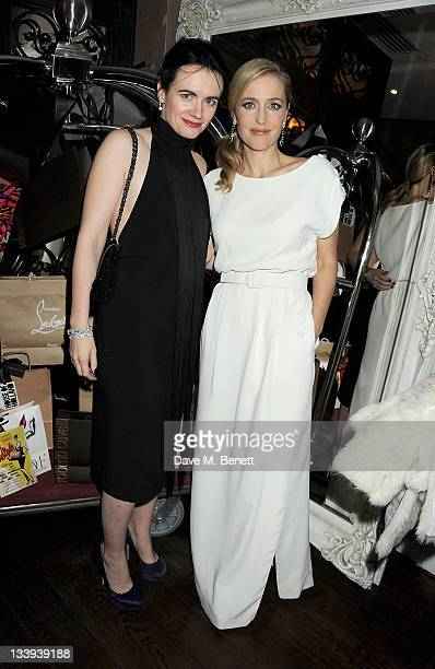 Editor of InStyle Magazine Eilidh MacAskill and actress Gillian Anderson attend 'Film InStyle' in association with Land Rover celebrating InStyle...
