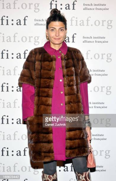Editor of L'Uomo Vogue Giovanna Battaglia attends the In Discussion with Carine Roitfeld event at Florence Gould Hall on November 5 2012 in New York...