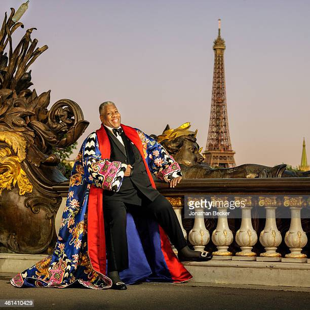 Editor of Numero Russia Andre Leon Talley is photographed for Vanity Fair Magazine on June 30 2013 in Paris France PUBLISHED IMAGE