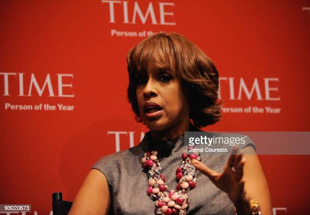 Editor of O Magazine Gayle King speaks at the TIME's 2009 Person of the Year at the Time Life Building on November 12 2009 in New York City
