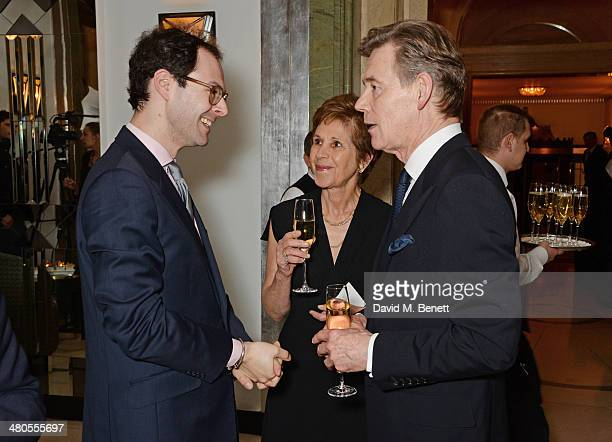 Editor of Spear's Josh Spero Georgina Simpson and Anthony Andrews attend a private dinner hosted by Spear's for The Mayo Clinic at Claridge's Hotel...
