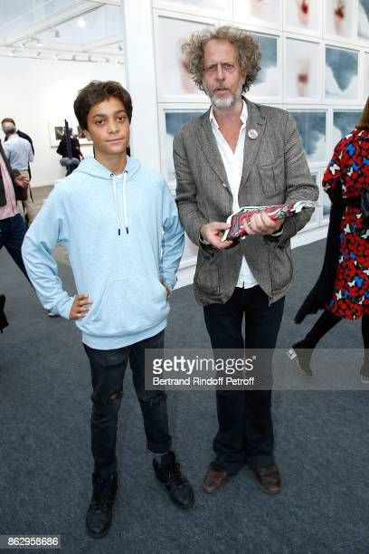 Editor of 'Technikart' Fabrice de RohanChabot and his son Aelig attend the FIAC 2017 International Contemporary Art Fair Press Preview at Le Grand...